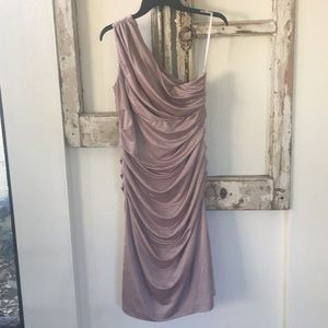 🌸Gorgeous Champagne Rose One Shoulder Dress🌸